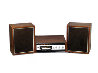 Eight track player and speakers
