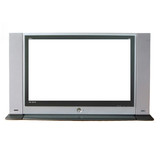 Television white screen poster