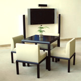 Dining room with television poster