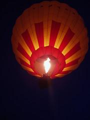 Balloon in the night sky