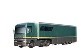 HGV truck and trailer poster