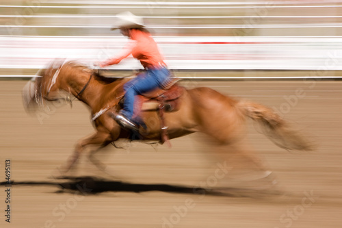 Galloping Horse with Cowgirl