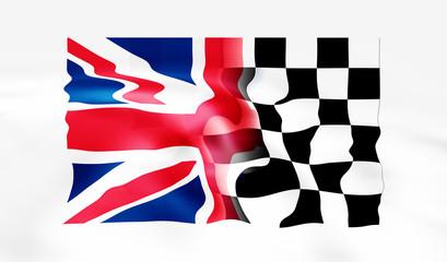 uk and racing flag