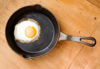 Fried Egg from Above
