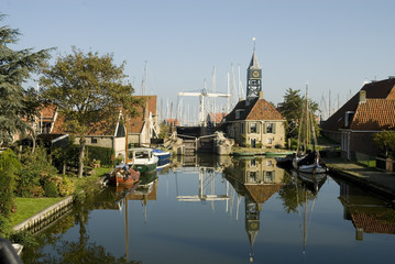 Typical Dutch small village