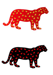 Big Cats with Heart Spots