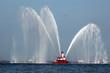 Leinwanddruck Bild - Fireboat in Action