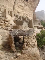 Vieilles constructions tellem - Pays Dogon (Mali)