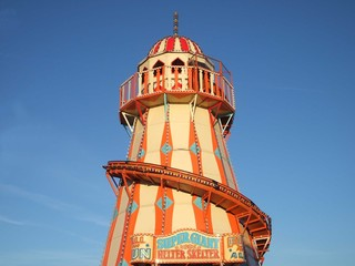 A Giant Helter Skelter Fun Fair Ride.