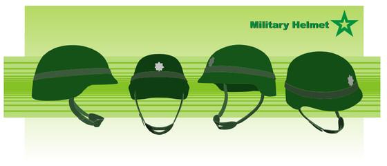 vector de un casco militar