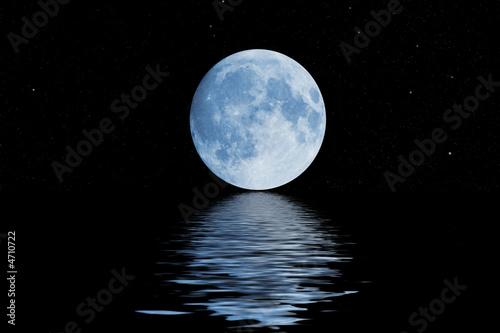 Leinwandbild Motiv blue moon