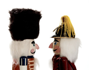 two nutcrackers in profile