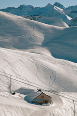 Nebelhorn ski resort Allgau Alps Germany