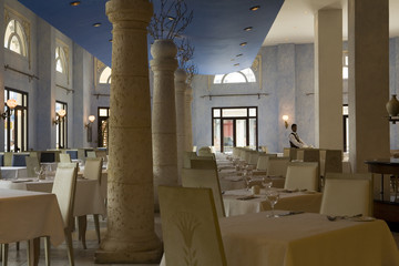 Interior of a luxury restaurant in Havana, Cuba