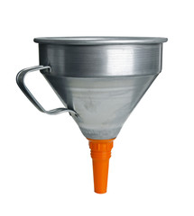 Large funnel isolated with path