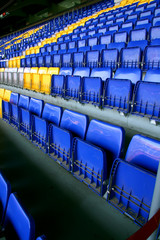 Empty stadium seats on FC Barcelona