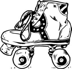 Retro Roller Boots Illustration