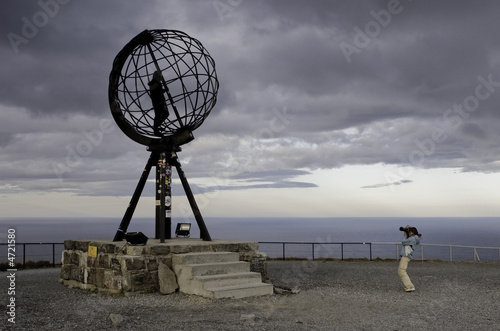 Tourists photograf, Nordkapp, Norway