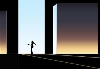 Bühnen Illustration