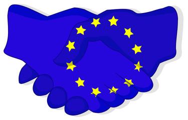 Europäischer Händedruck