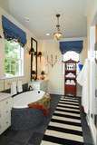 bathroom in wealthy home poster