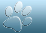 abstract paw print poster