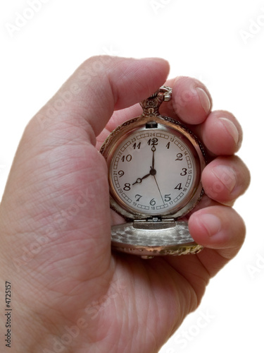 pocket watch. 8 c'clock. time concept