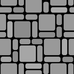 Seamlessly vector wallpaper with block-stone on black