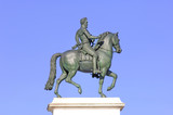 France, Paris: Statue of the French King Henry IV poster