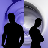 silhouette masculine poster