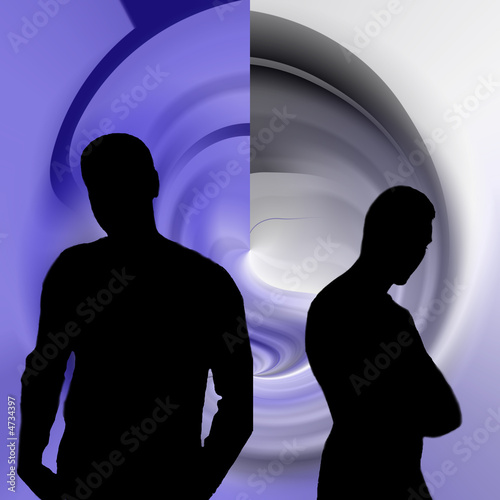 poster of silhouette masculine