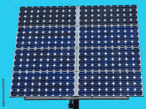 Solar Panel Against a Blue Sky