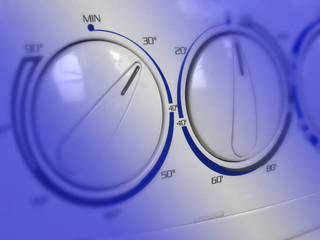detail of washing machine