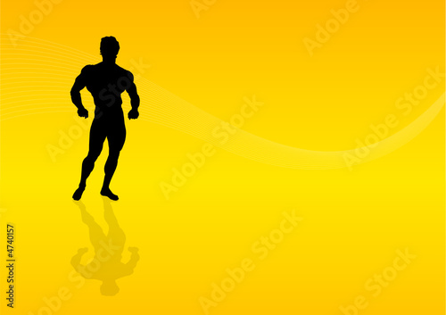 Background Body Building Man