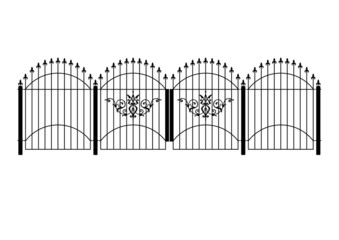 wrought iron victorian fence and gates