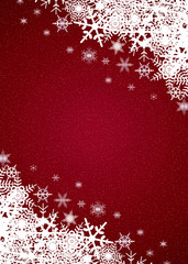 red winter snowfall background