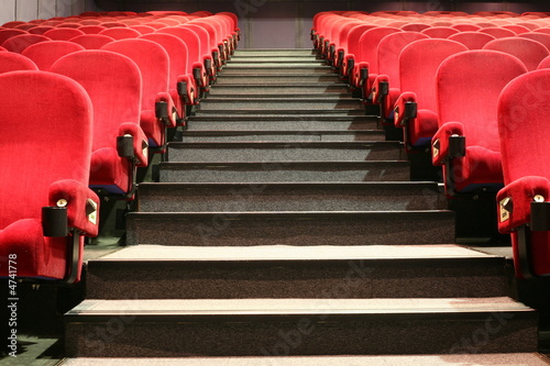 stairs and chairs in a cinema