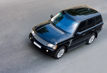 "luxury  british suv isolated part of ""luxury cars"" series"