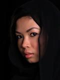 Beautiful Asian shy looking girl poster