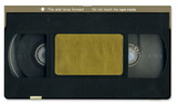 Old video cassette tape front including clipping path poster