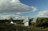 The rural view in russian village near Pskov. Russia. poster