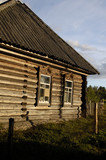 The countryhouse in russian village near Pskov. Russia. poster
