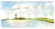 Leinwandbild Motiv Leuchtturm Flügge