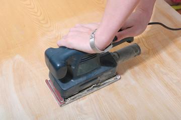 sanding job