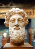 ancient Greek sculpture, bearded head of Zeus poster