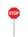 sign stop poster