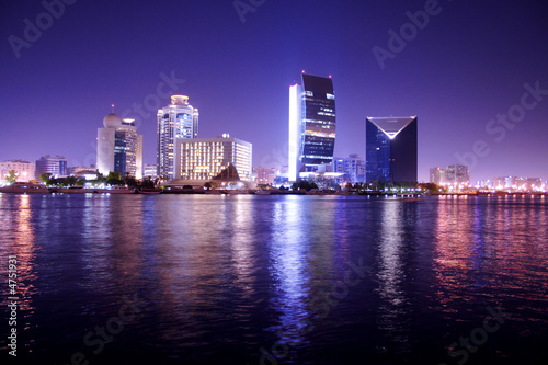 Aluminium Dubai Night Scene, Dubai, united arab emirates