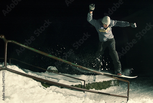Night snowboarding 06