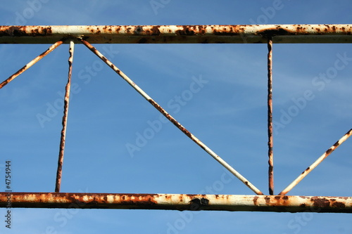 Rusty football crossbar..