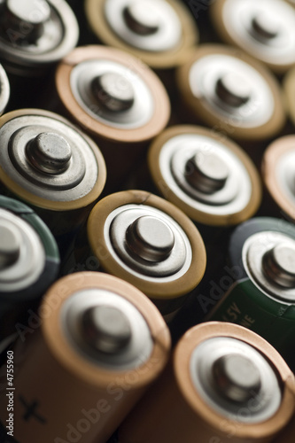 Leinwandbild Motiv batteries